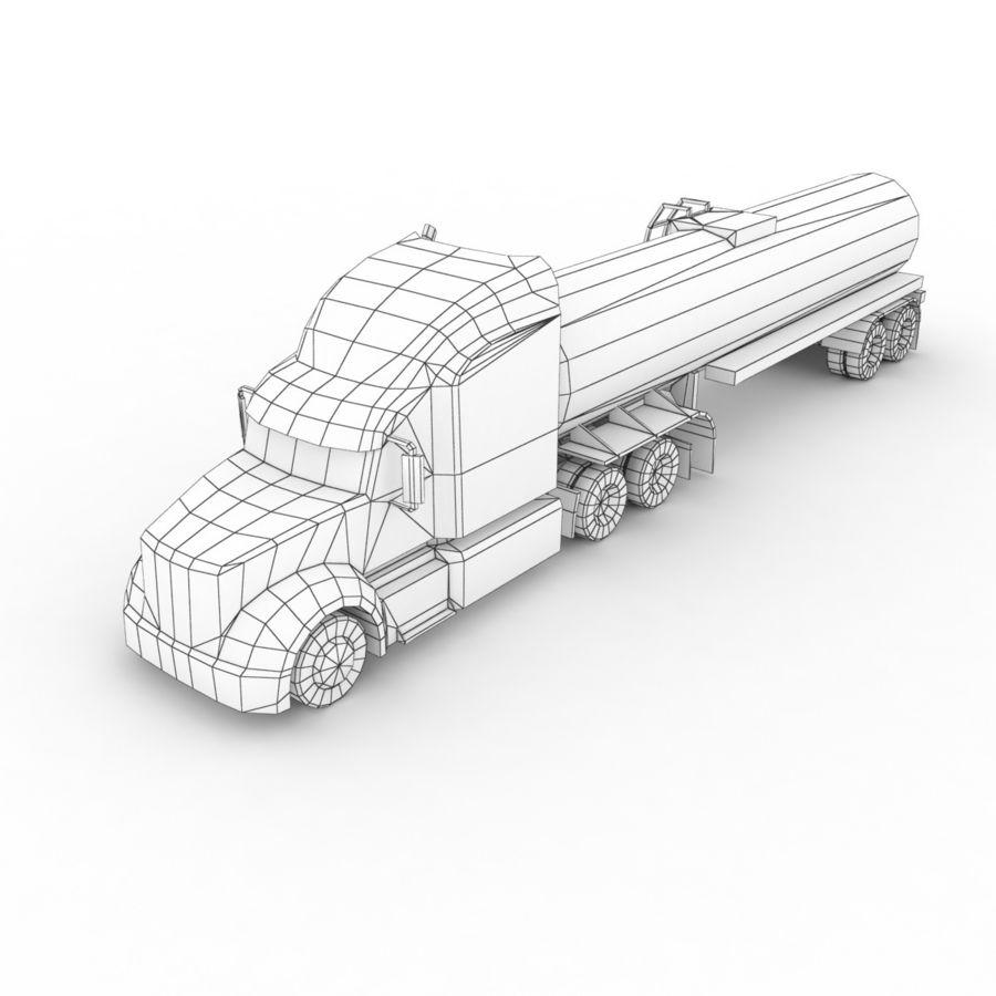 Peterbilt 386 Tanker royalty-free 3d model - Preview no. 10
