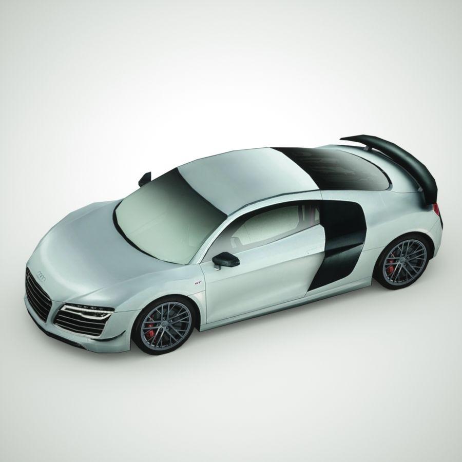 Audi R8 GT 2015 royalty-free 3d model - Preview no. 3