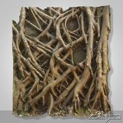 Banyan Roots Wall 2 3d model