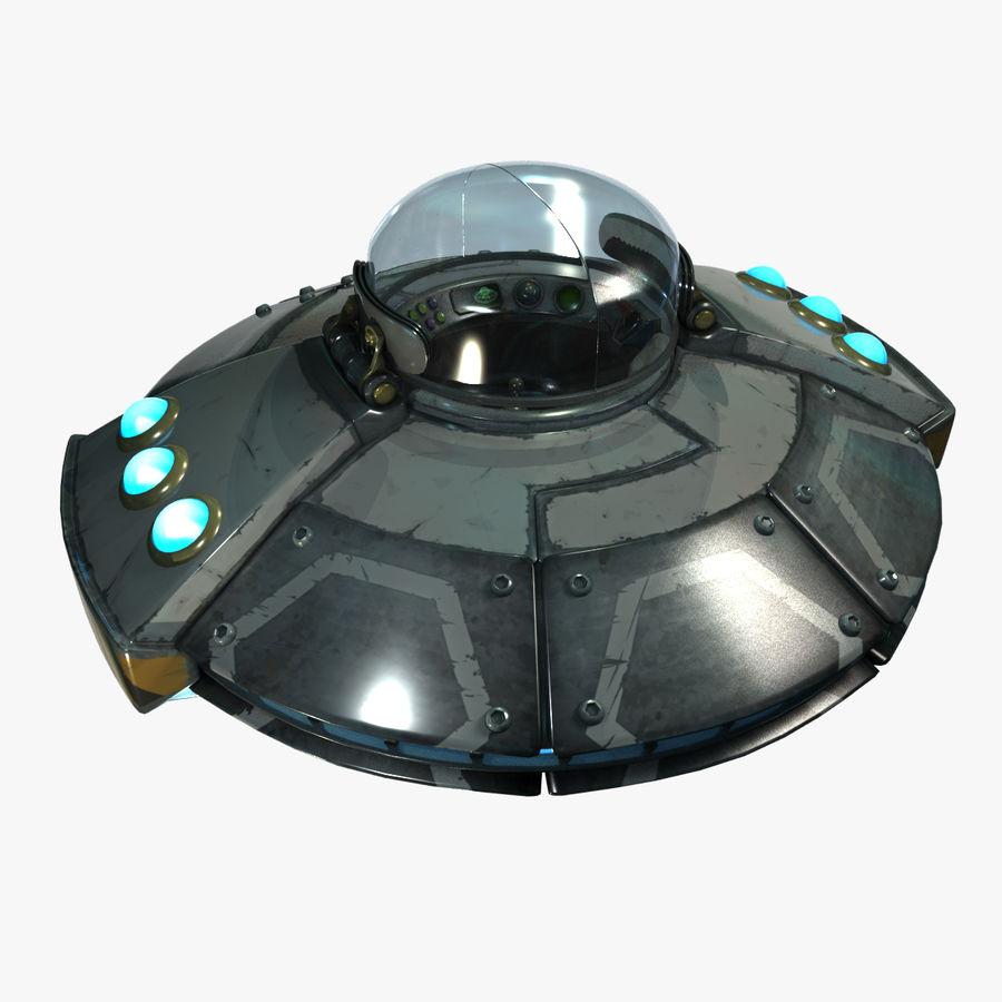 Cartoon UFO royalty-free 3d model - Preview no. 4