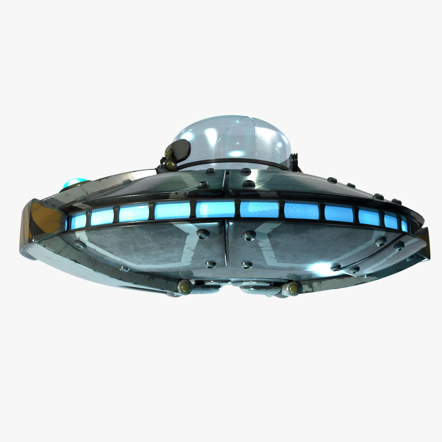 Cartoon UFO royalty-free 3d model - Preview no. 1