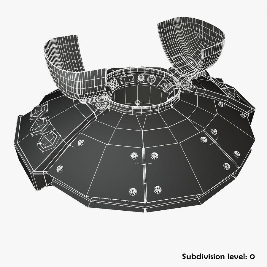 Cartoon UFO royalty-free 3d model - Preview no. 18