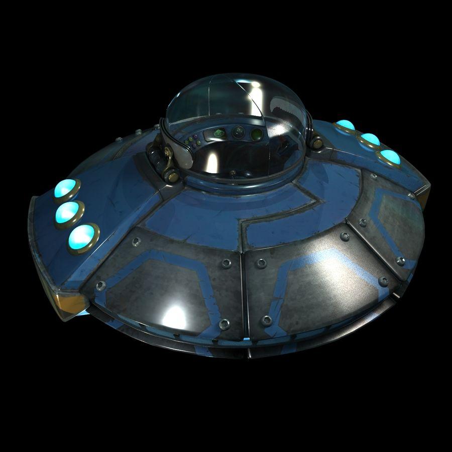 Cartoon UFO royalty-free 3d model - Preview no. 14