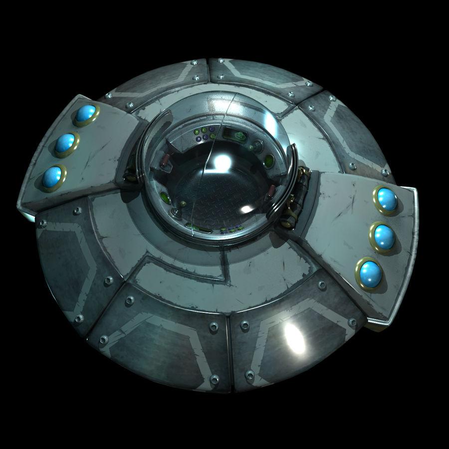 Cartoon UFO royalty-free 3d model - Preview no. 9