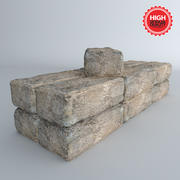 Bricks Concrete 3d model