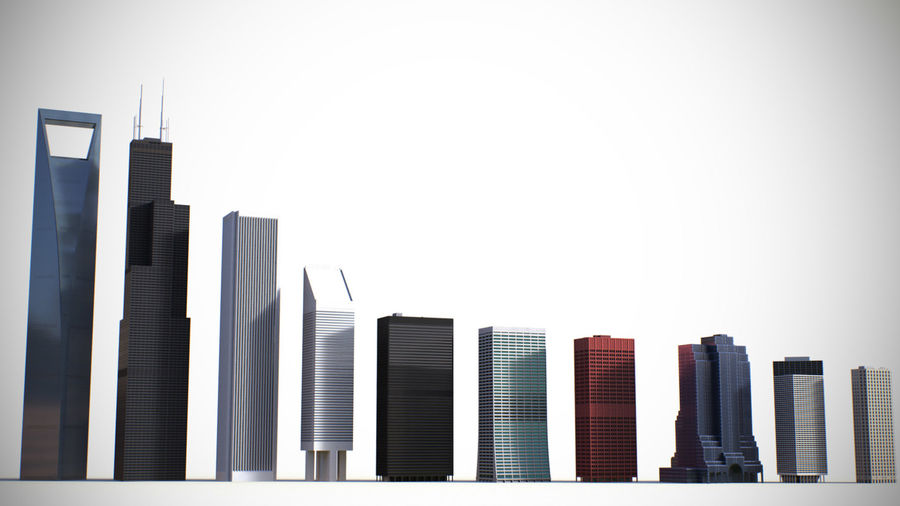 Skyscrapers and Towers royalty-free 3d model - Preview no. 2