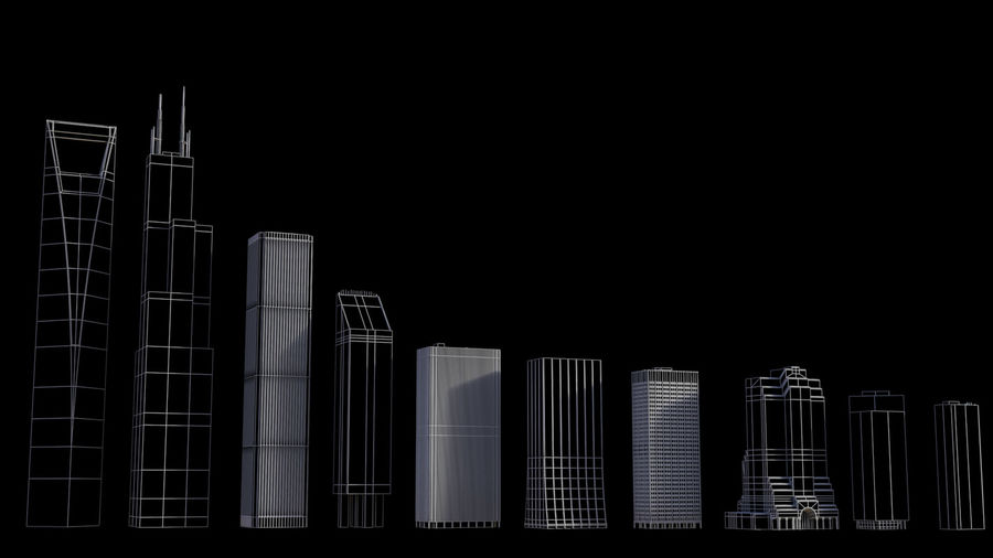 Skyscrapers and Towers royalty-free 3d model - Preview no. 12