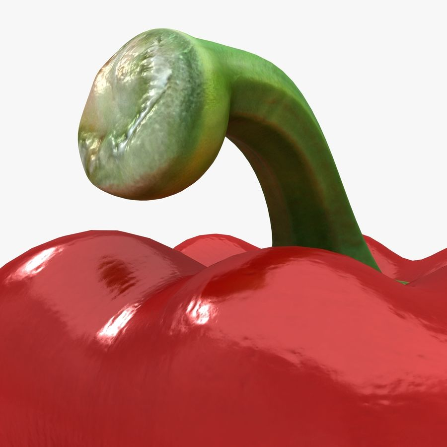 Pepper Red royalty-free 3d model - Preview no. 7