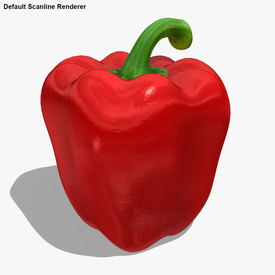 Pepper Red royalty-free 3d model - Preview no. 18