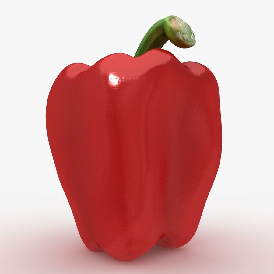 Pepper Red royalty-free 3d model - Preview no. 4