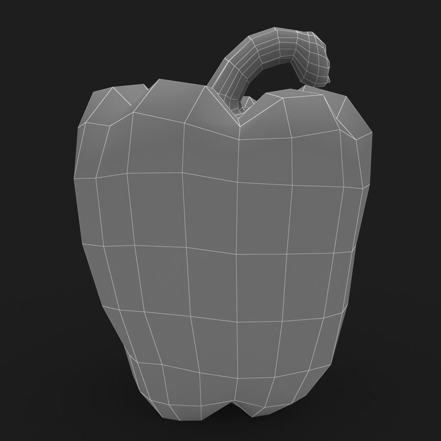 Pepper Red royalty-free 3d model - Preview no. 11