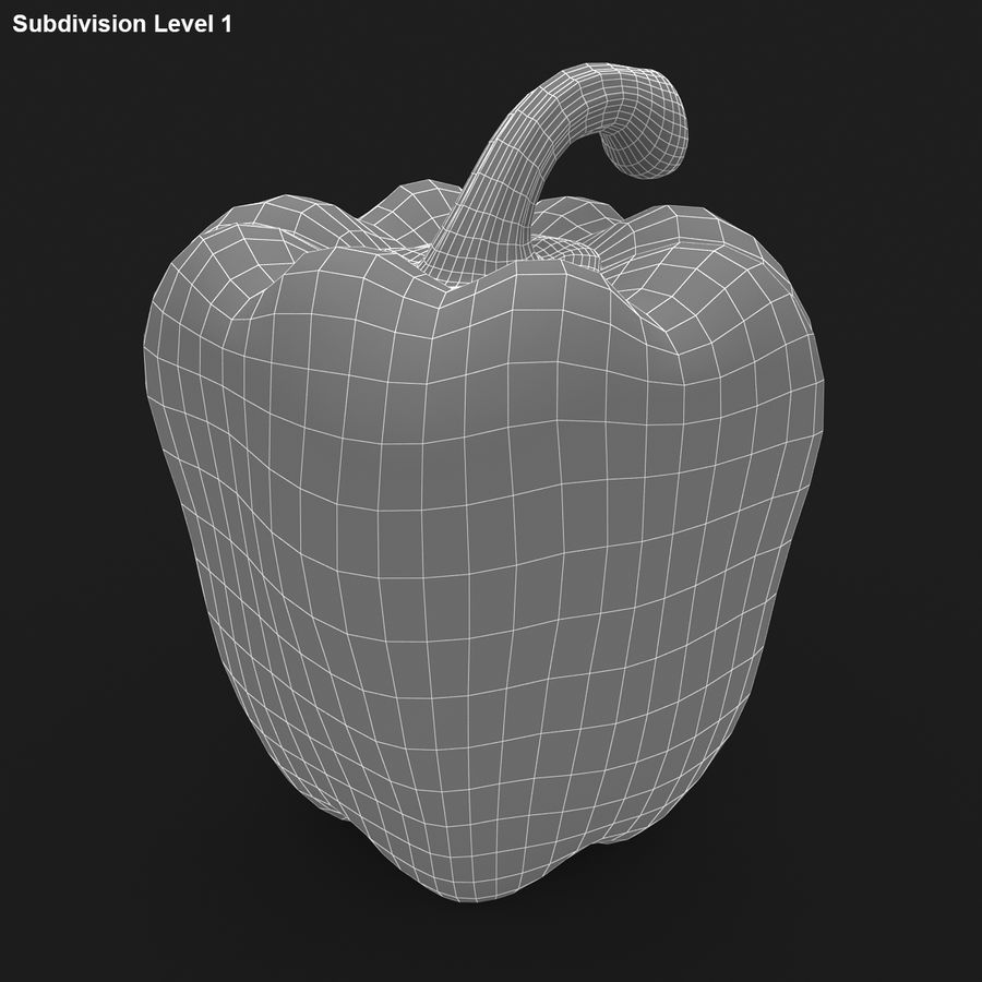 Pepper Red royalty-free 3d model - Preview no. 16