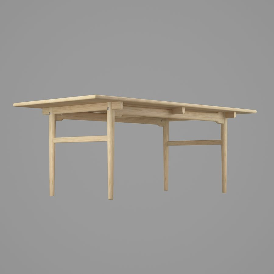 CH327 Dining Table - Hans J. Wegner royalty-free 3d model - Preview no. 6