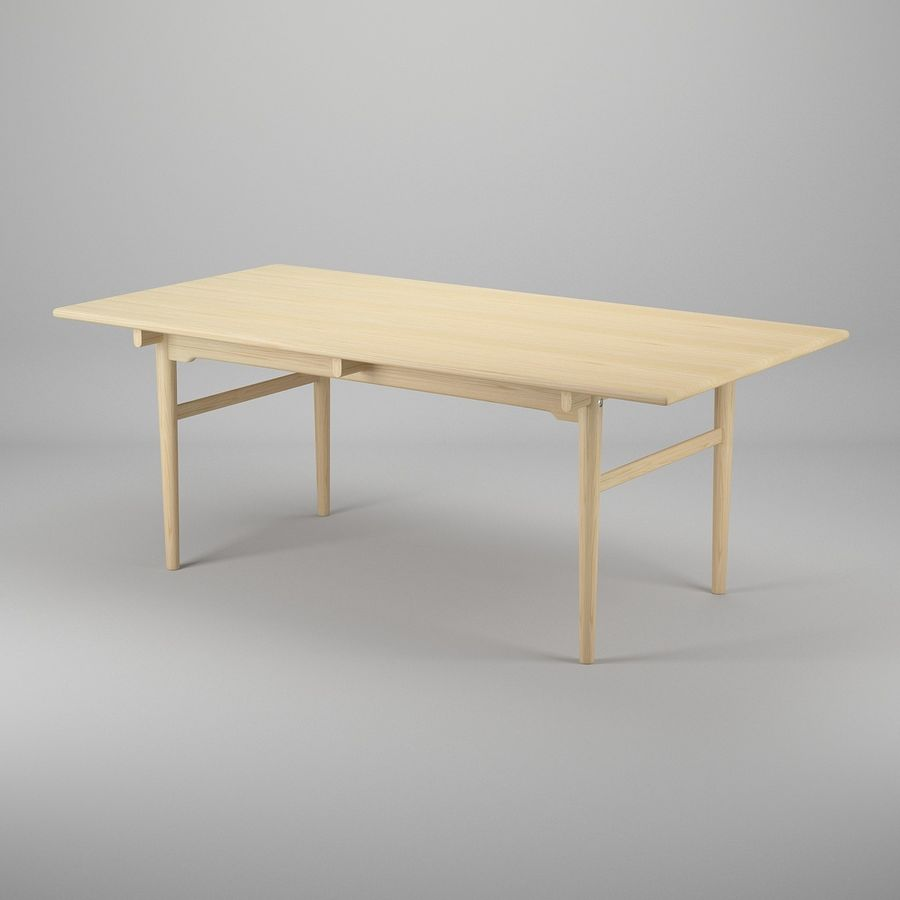 CH327 Dining Table - Hans J. Wegner royalty-free 3d model - Preview no. 2