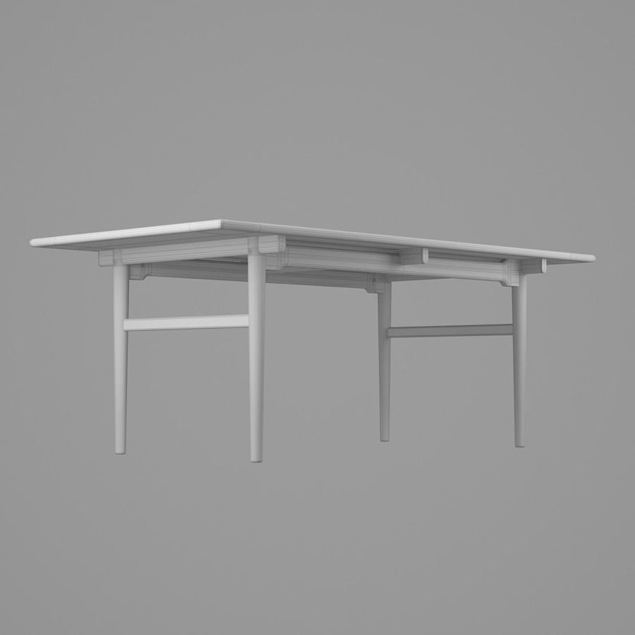 CH327 Dining Table - Hans J. Wegner royalty-free 3d model - Preview no. 10