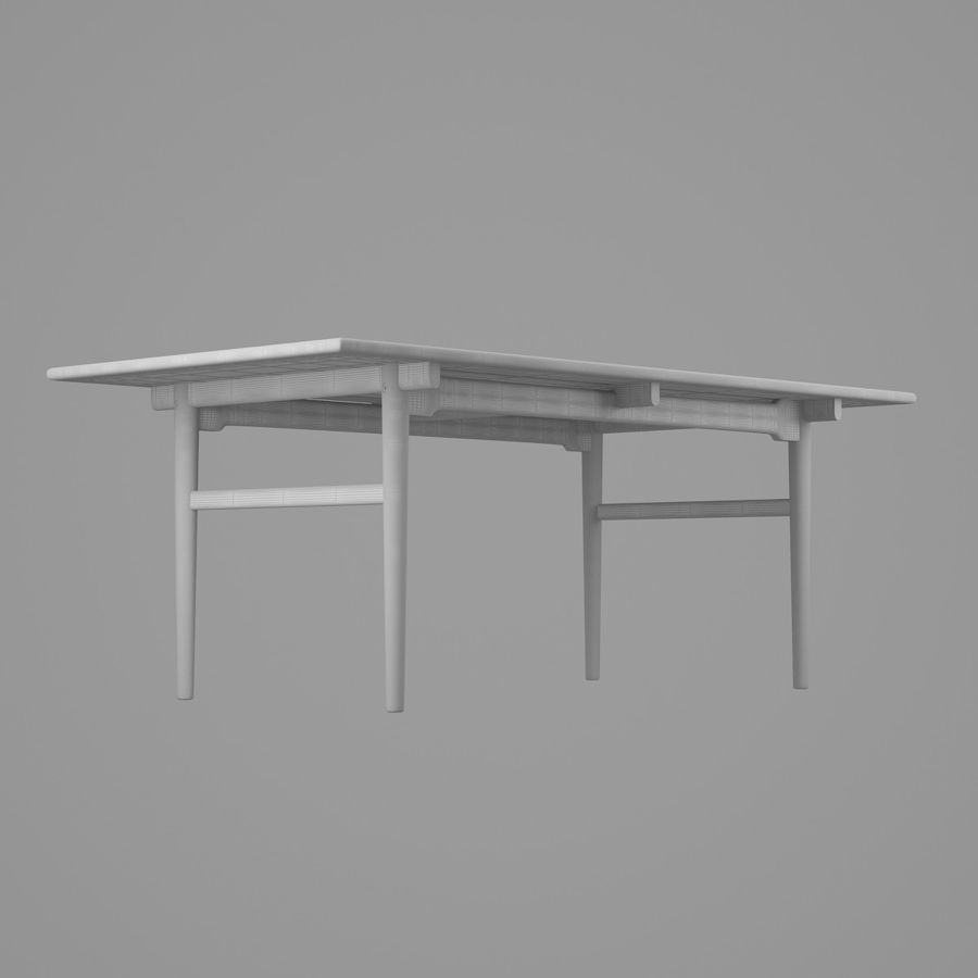 CH327 Dining Table - Hans J. Wegner royalty-free 3d model - Preview no. 9