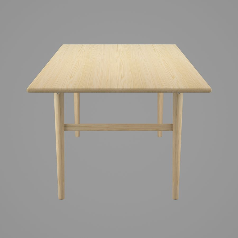 CH327 Dining Table - Hans J. Wegner royalty-free 3d model - Preview no. 4