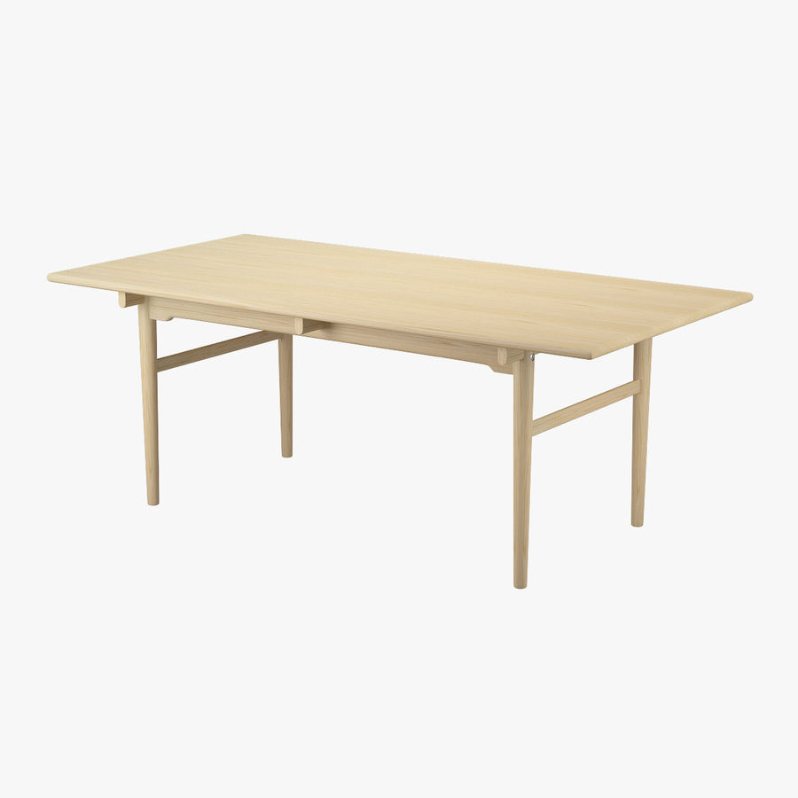CH327 Dining Table - Hans J. Wegner royalty-free 3d model - Preview no. 1