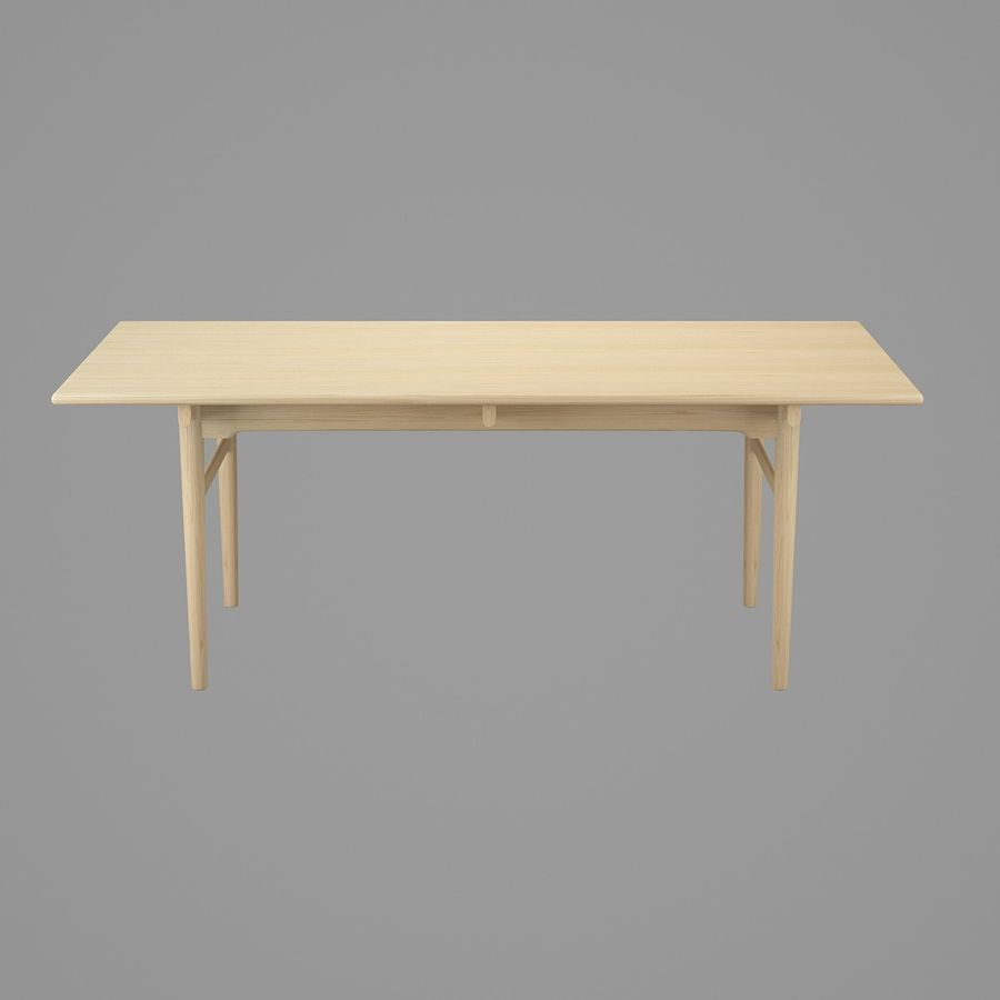 CH327 Dining Table - Hans J. Wegner royalty-free 3d model - Preview no. 3
