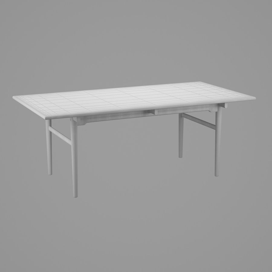 CH327 Dining Table - Hans J. Wegner royalty-free 3d model - Preview no. 7