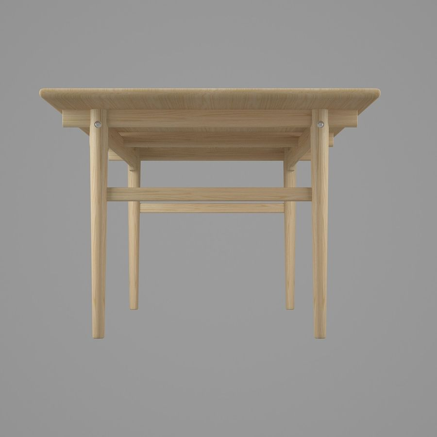CH327 Dining Table - Hans J. Wegner royalty-free 3d model - Preview no. 5