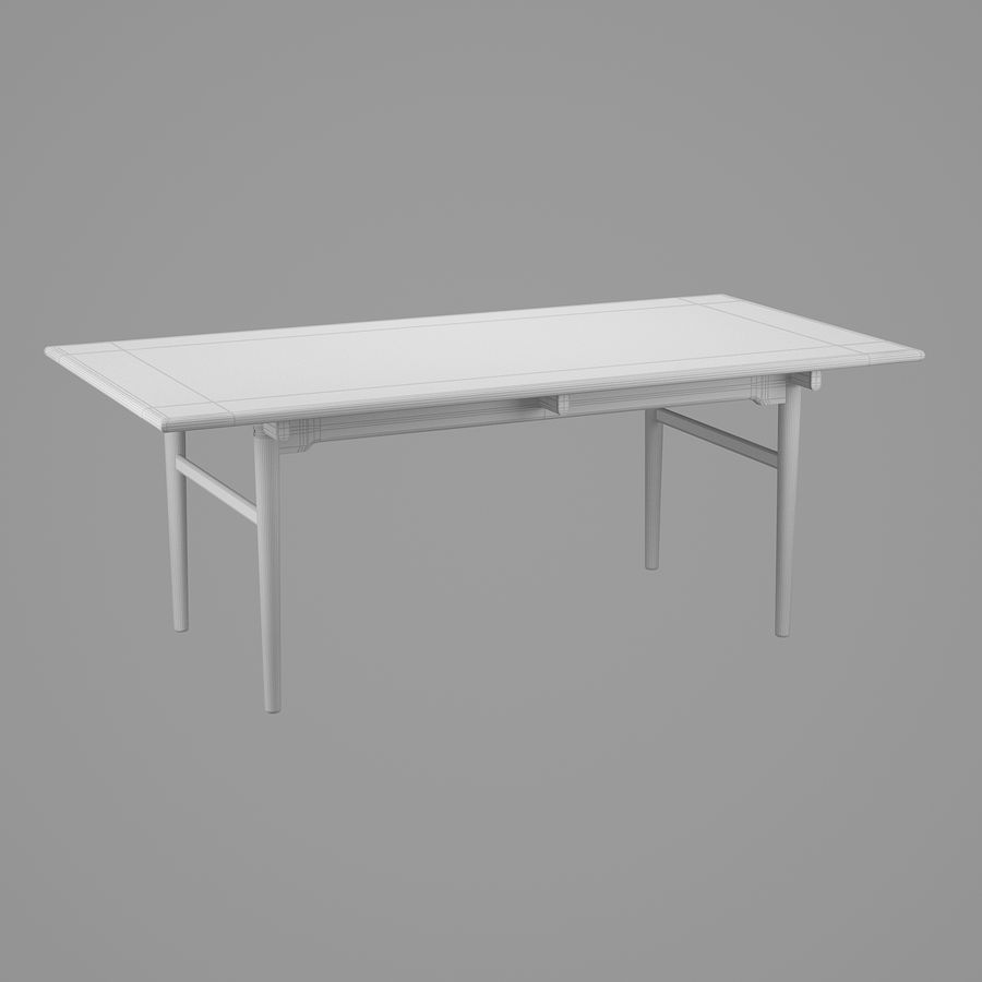 CH327 Dining Table - Hans J. Wegner royalty-free 3d model - Preview no. 8