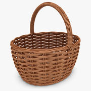 枝編み細工品バスケット(チェリー) 3d model