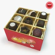 巧克力盒 3d model