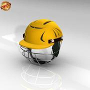 板球头盔 3d model