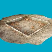 Speeltuin 2 - Oude zandbak voor kinderen 3d model