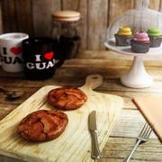 Chocolate Meringue Cookie 3d model