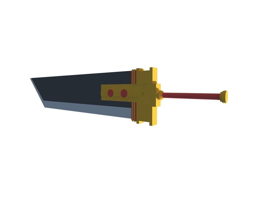 Buster Schwert royalty-free 3d model - Preview no. 2