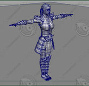 女戦士 3d model