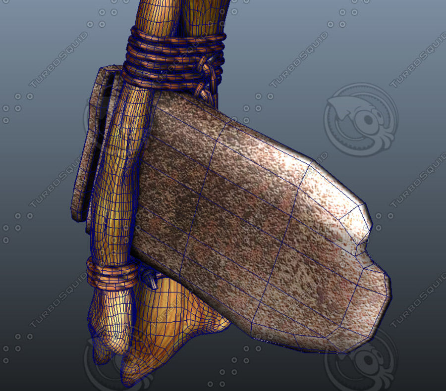 Weapons axes royalty-free 3d model - Preview no. 2