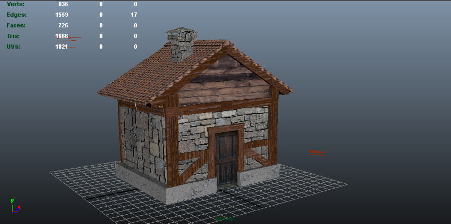 Shack royalty-free 3d model - Preview no. 1