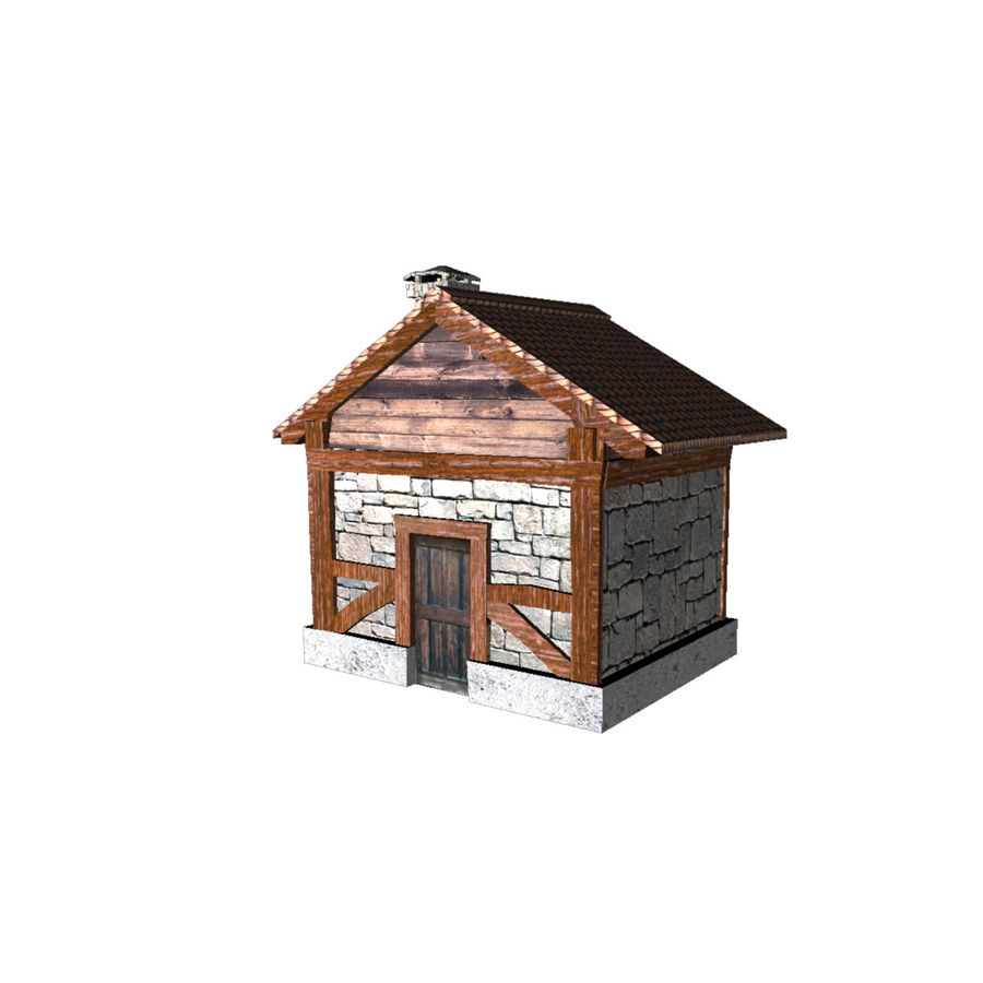 Shack royalty-free 3d model - Preview no. 2