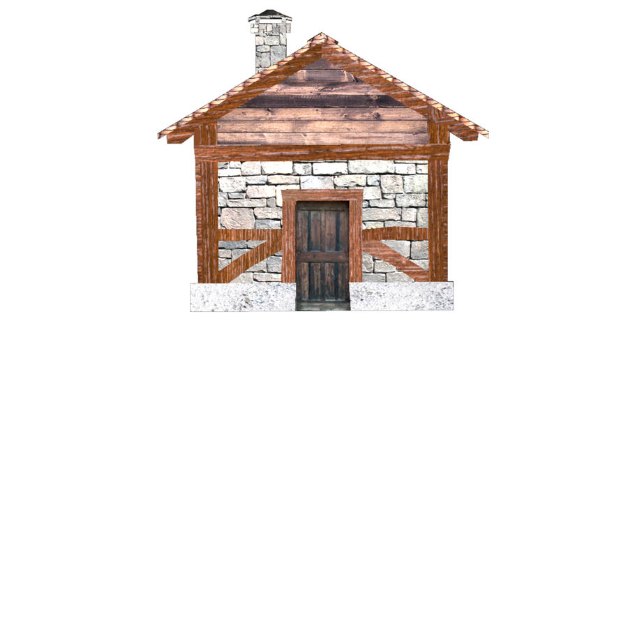 Shack royalty-free 3d model - Preview no. 3