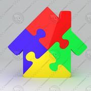 Puzzle House Icon modelo 3d