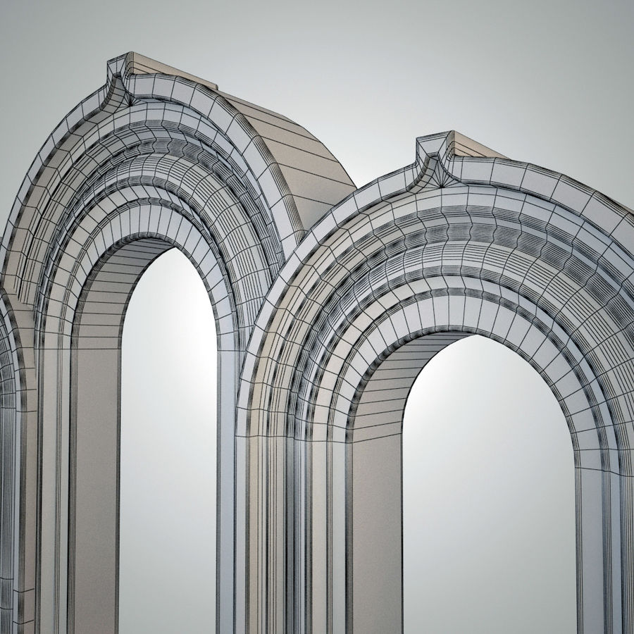 Ancient arch royalty-free 3d model - Preview no. 2