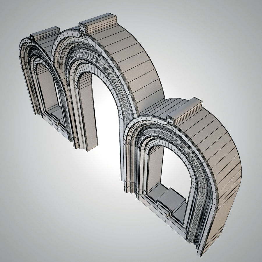 Ancient arch royalty-free 3d model - Preview no. 4