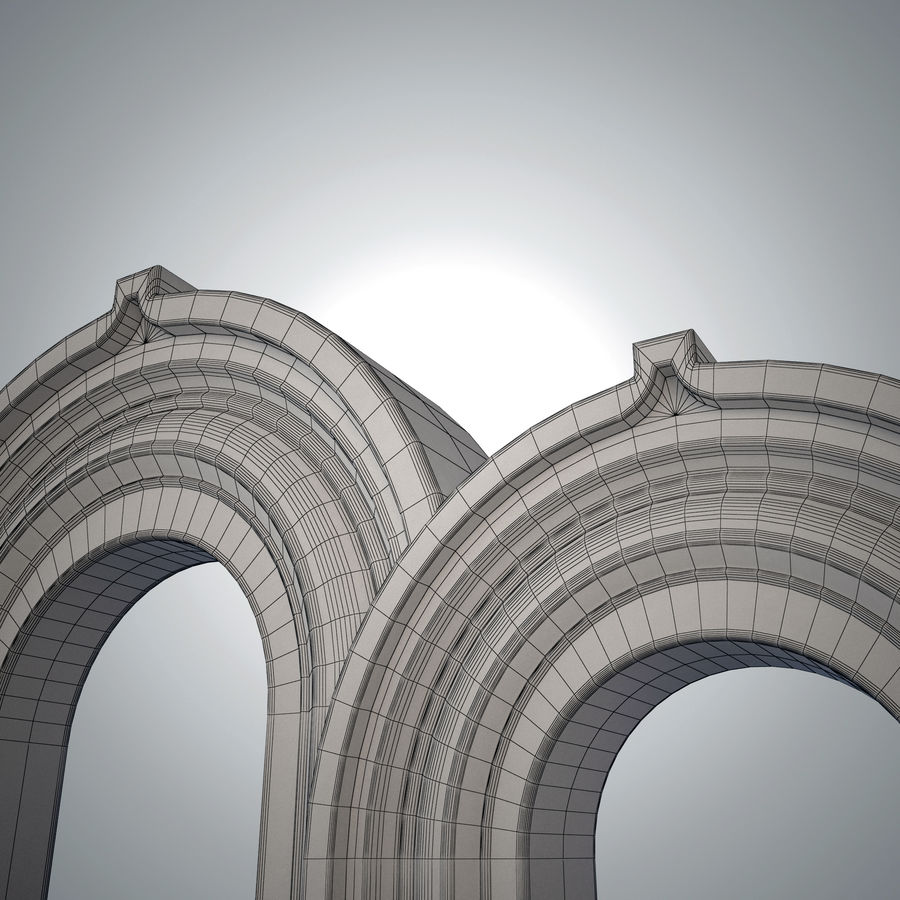 Ancient arch royalty-free 3d model - Preview no. 1
