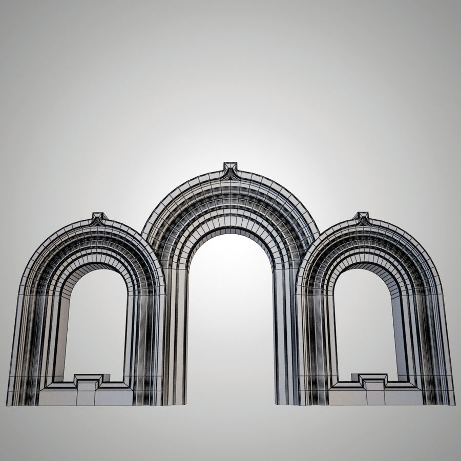 Ancient arch royalty-free 3d model - Preview no. 3
