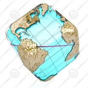 Wire Globe Earth CUBE 3d model