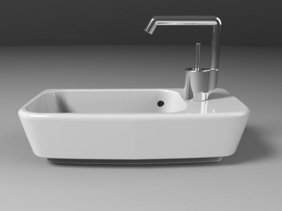 NURBS SINK royalty-free 3d model - Preview no. 2