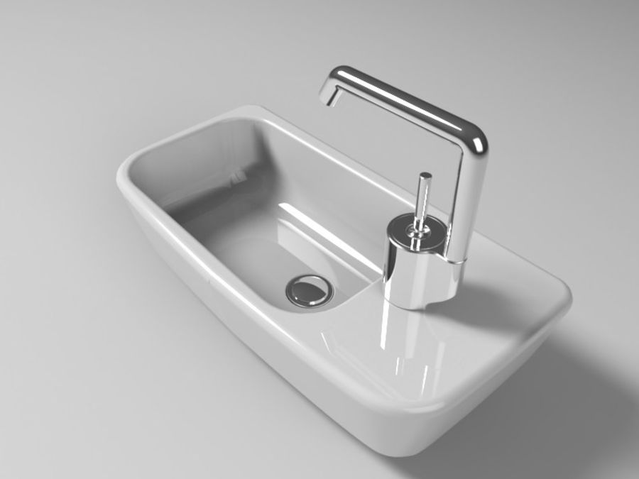 NURBS SINK royalty-free 3d model - Preview no. 3