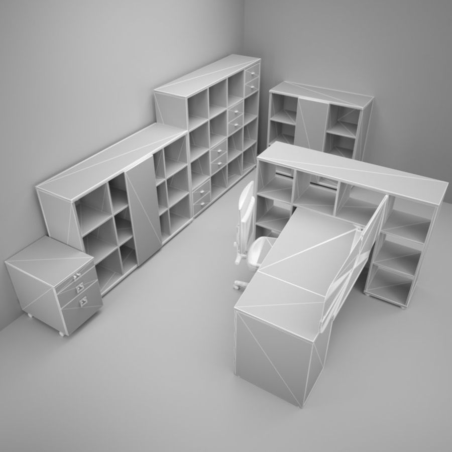 Office 88 royalty-free 3d model - Preview no. 3
