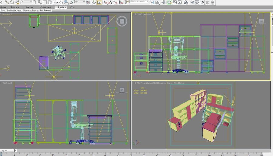Office 88 royalty-free 3d model - Preview no. 17