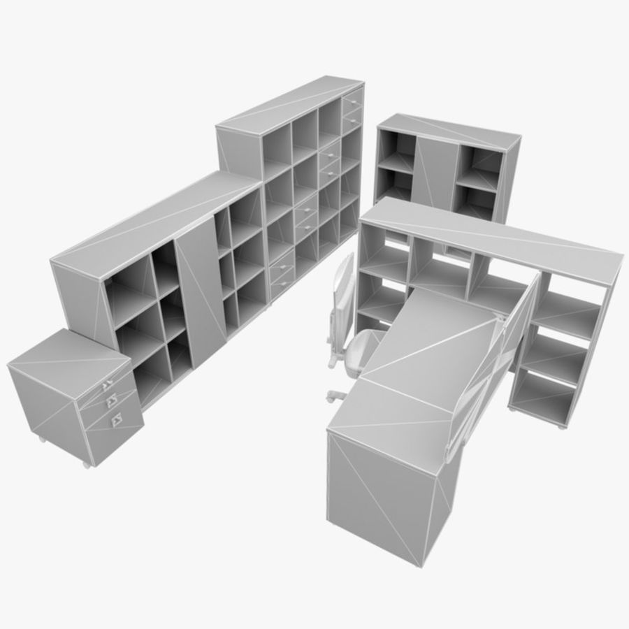 Office 88 royalty-free 3d model - Preview no. 4
