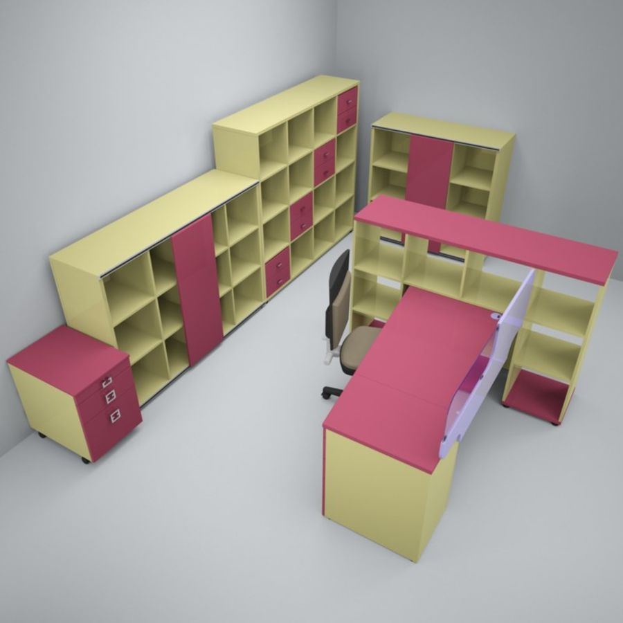 Office 88 royalty-free 3d model - Preview no. 2