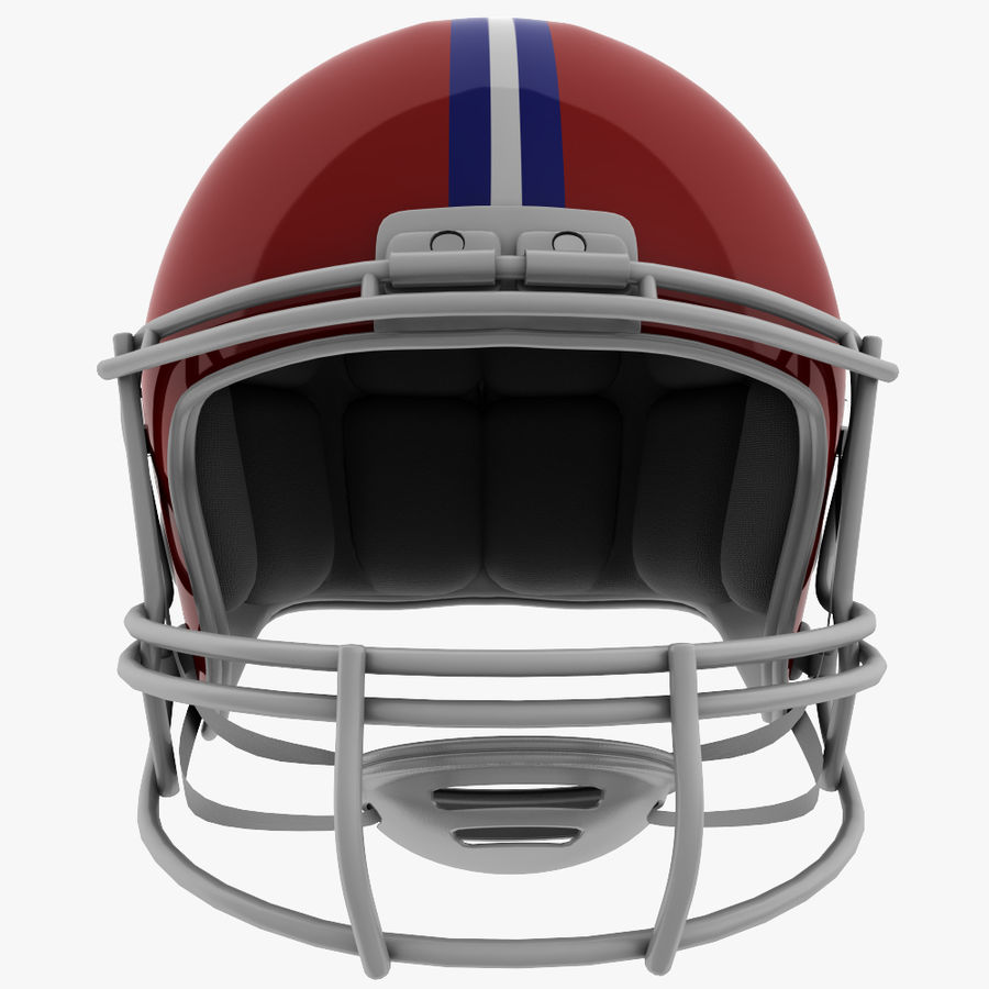 American Football Helmet royalty-free 3d model - Preview no. 3